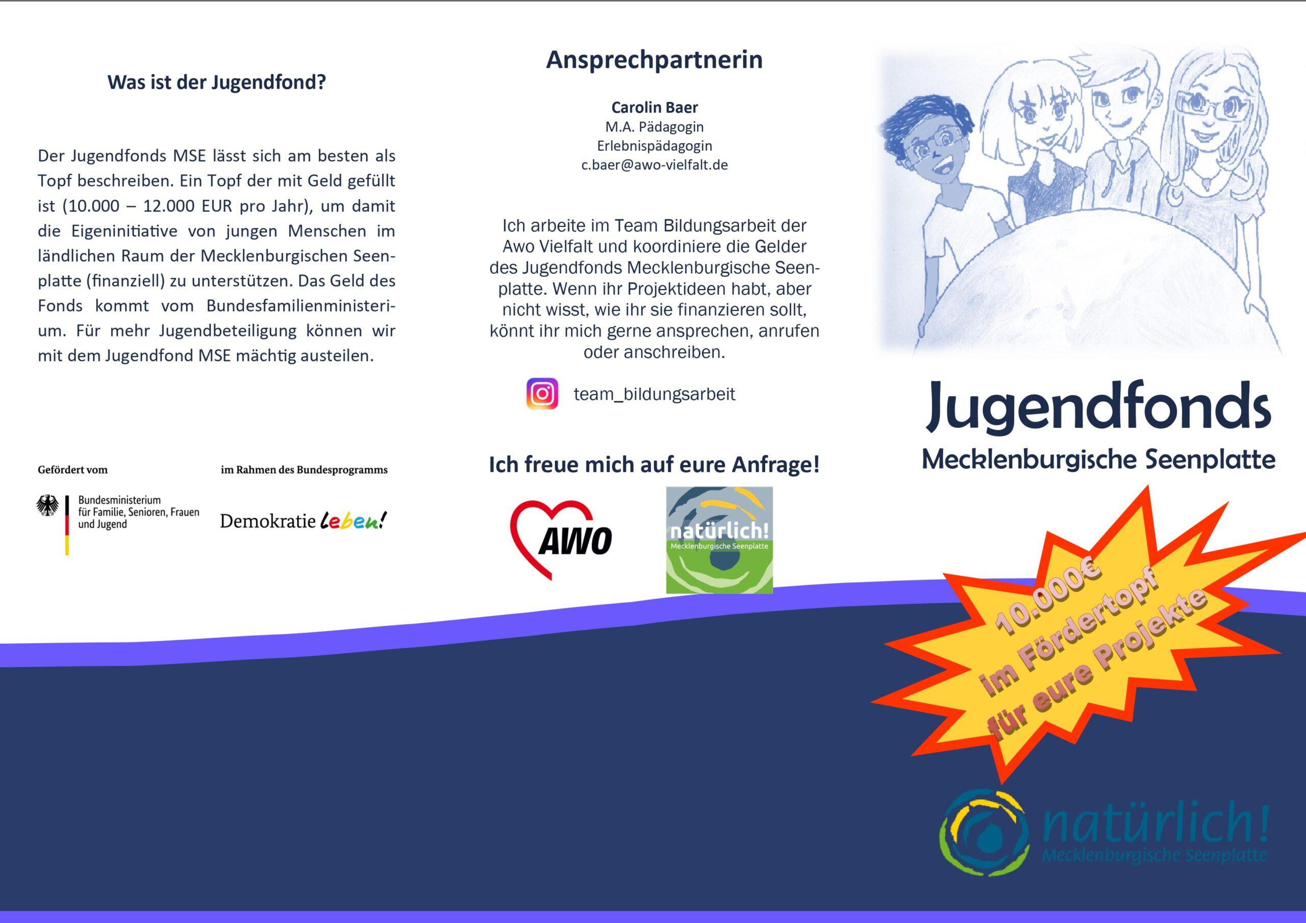 Neuer Flyer Jugendfonds