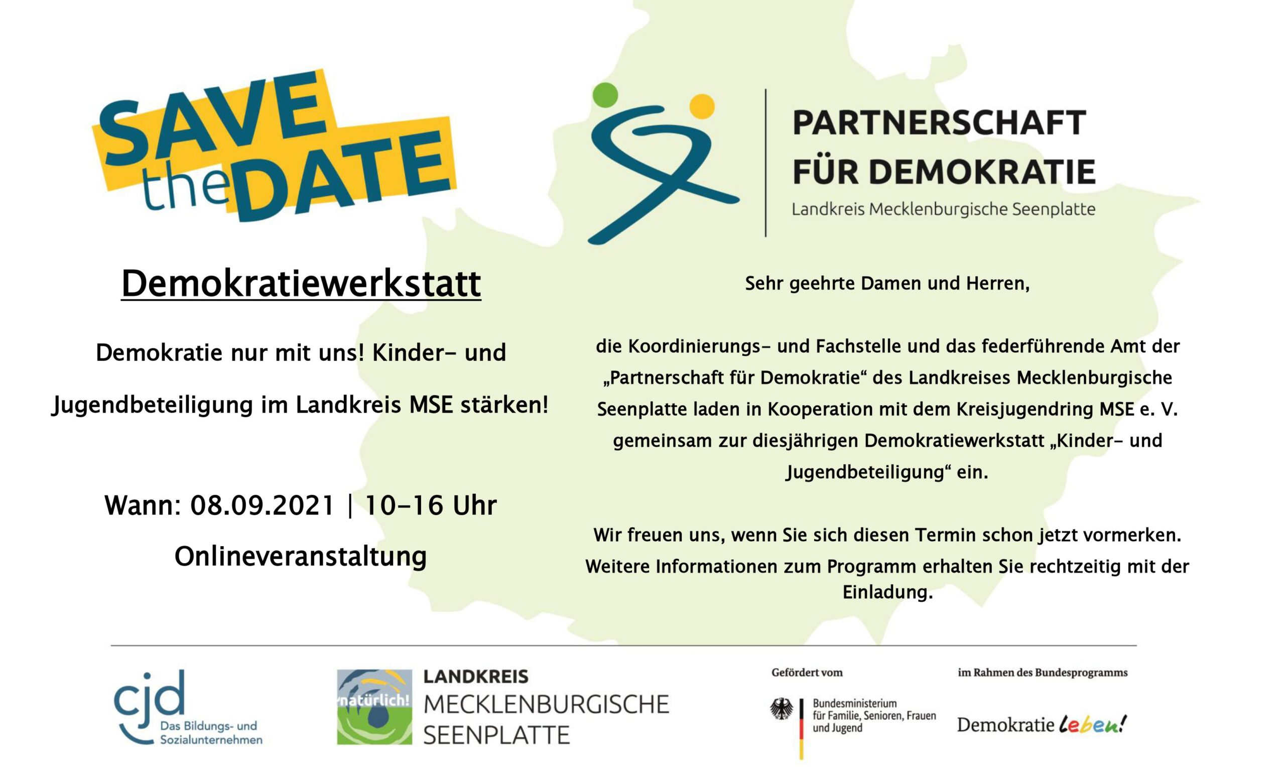 Read more about the article Save the Date – Demokratiewerkstatt